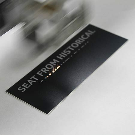 Image of Laser Engraver engraving a metal plate by Newline Trophy