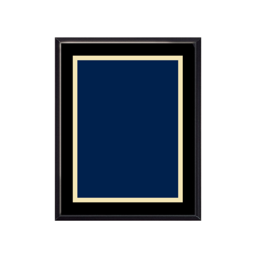 """Picture of V1100B 8"""" x 10"""" Veneer Finish Plaque with choice of solid brass engraving plate"""