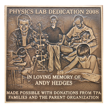 Picture of Andy Hedges Bronze Memorial Plaque