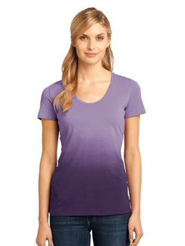 "Picture of District Madeâ""¢ - Ladies Dip Dye Rounded Deep V-Neck Tee. DM4310"