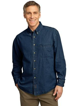 Picture of Port & Company® - Long Sleeve Value Denim Shirt. SP10