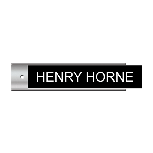 2 x 8 Silver Wall Plate Sign Holder | Black Engraves White