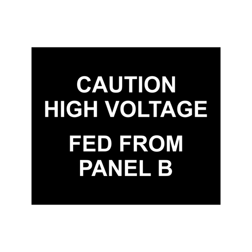2.5x3 Electrical Panel Tag   Black Engaves White