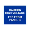 2.5x3 Electrical Panel Tag   Blue Engaves White
