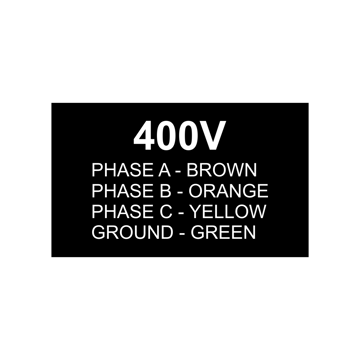 3x5 Electrical Panel Tag | Black Engaves White