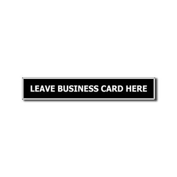 .5 x 3 Plastic Sign | Black Engraves White