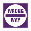 3 x 3 Engraved Plastic Sign | Purple Engraves White