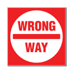3 x 3 Engraved Plastic Sign | Red Engraves White