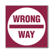 3 x 3 Engraved Plastic Sign | Maroon Engraves White