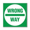 3 x 3 Engraved Plastic Sign | Green Engraves White