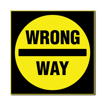 3 x 3 Engraved Plastic Sign | Black Engraves Yellow