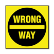 3 x 3 Engraved Plastic Sign | Yellow Engraves Black
