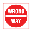 3 x 3 Engraved Plastic Sign | White Engraves Red