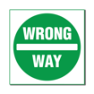 3 x 3 Engraved Plastic Sign | White Engraves Green