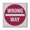 3 x 3 Engraved Plastic Sign | Grey Engraves Maroon