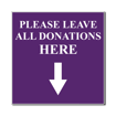 4 x 4 Engraved Plastic Sign | Purple Engraves White