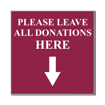 4 x 4 Engraved Plastic Sign | Maroon Engraves White