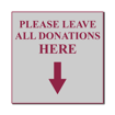 4 x 4 Engraved Plastic Sign | Grey Engraves Maroon