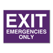 5 x 7 Engraved Plastic Sign | Purple Engraves White