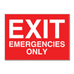 5 x 7 Engraved Plastic Sign | Red Engraves White
