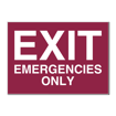 5 x 7 Engraved Plastic Sign | Maroon Engraves White