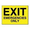 5 x 7 Engraved Plastic Sign | Yellow Engraves Black