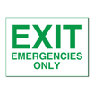 5 x 7 Engraved Plastic Sign | White Engraves Green