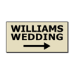 5  x 10  Engraved Plastic Sign | Almond Engraves Black