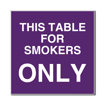 6 x 6  Engraved Plastic Sign | Purple Engraves White