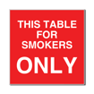 6 x 6  Engraved Plastic Sign | Red Engraves White
