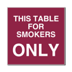 6 x 6  Engraved Plastic Sign | Maroon Engraves White