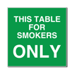 6 x 6  Engraved Plastic Sign | Green Engraves White