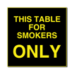 6 x 6  Engraved Plastic Sign | Black Engraves Yellow