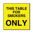 6 x 6  Engraved Plastic Sign | Yellow Engraves Black
