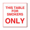 6 x 6  Engraved Plastic Sign | White Engraves Red