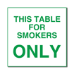6 x 6  Engraved Plastic Sign | White Engraves Green