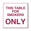 6 x 6  Engraved Plastic Sign | White Engraves Maroon