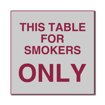 6 x 6  Engraved Plastic Sign | Grey Engraves Maroon