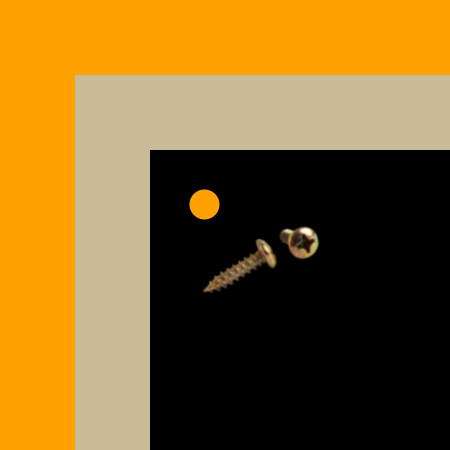 Square Corners | Gold Background | Holes Gold Screws [+$6.00]