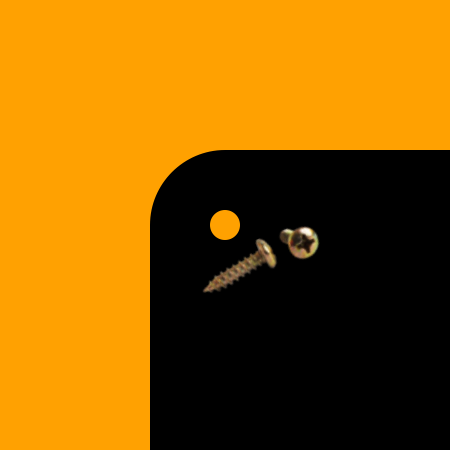 Round Corners | Holes Gold Screws [+$1.00]