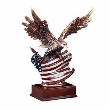 American Flag Eagle Resin
