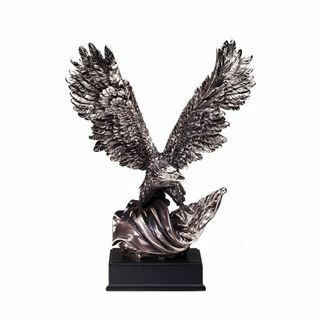 RFB080 Gallery Silver Eagle Resin Trophy Small