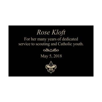 "3"" x 5"" Laser Engraved Metal Plate 