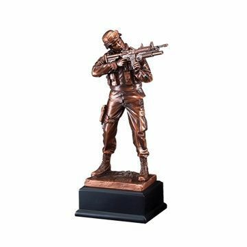 "11 1/2"" RFB135 Army American Hero Resin Award"