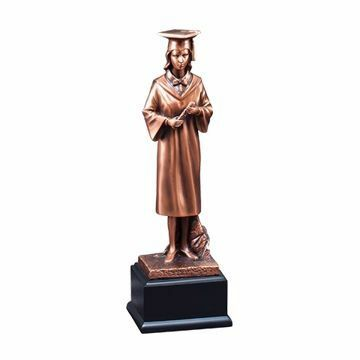 "12"" RFB260 Graduate Resin Figure Female Trophy"