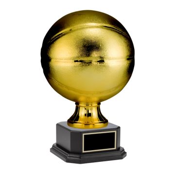 "Gold Basketball Sport Resin On Matte Black Base 8"" & 14"" Available"