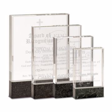 Glass Black Stone Award | Available In 4 Sizes