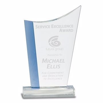 Crystal Blue Ice Award | Engraving Included