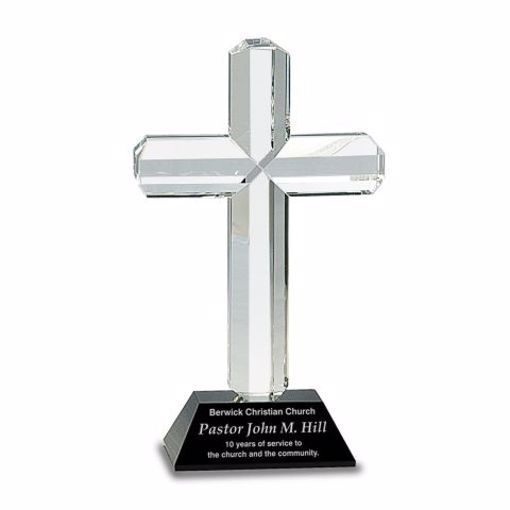 Crystal Cross Black Base Award | Engraving Included