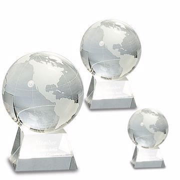 Premier Crystal Globe | 3 Sizes Available | Engraving Included